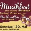 Blechkondlfete und Fest der Musikkapelle Montan